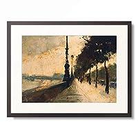 レッサー・ユリィ Lesser Ury 「The Embankment, London. 1926」 額装アート作品