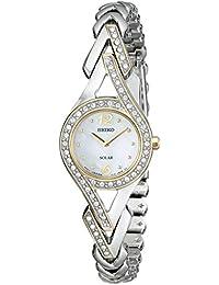 Seiko Women's SUP174 Swarovski Crystal-Accented Two-Tone Solar Watch セイコーレディース腕時計