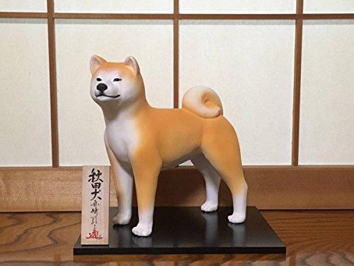 【限定品】伝統工芸 博多人形師 國崎信正作 秋田犬置物