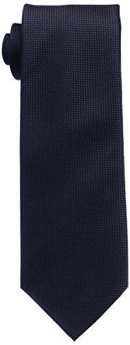 (フェアファクス)FAIRFAX(フェアファクス) ソリッドバスケット織ネクタイ SLD03 ミッドナイトブルー F