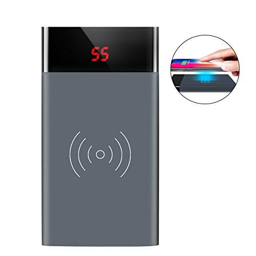 ロシヒ モバイルバッテリー ワイヤレス充電器 急速充電 10...