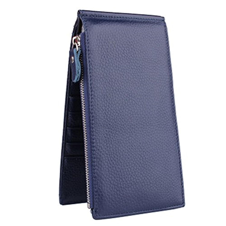スリムクレジットカードバッグウォレットカードオーガナイザーホルダーwith 18カードスロット、ブルー