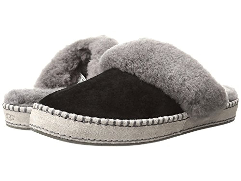 [UGG(アグ)] レディーススリッパ?スリッポン?靴 Aira Black Suede 7 (24cm) B - Medium