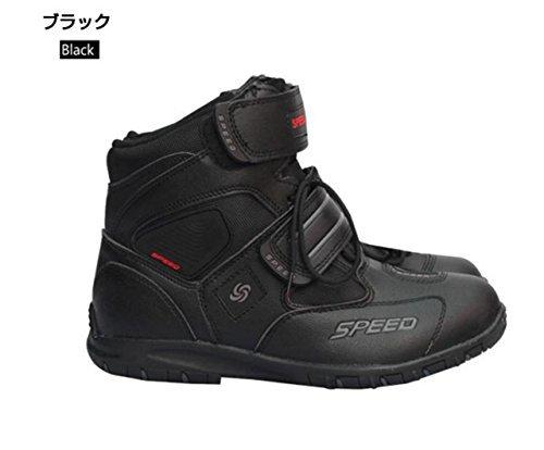 ショートブーツ メンズ オートバイ靴 バイク靴 バイク用レーシングブーツ ライディングシューズ レー...