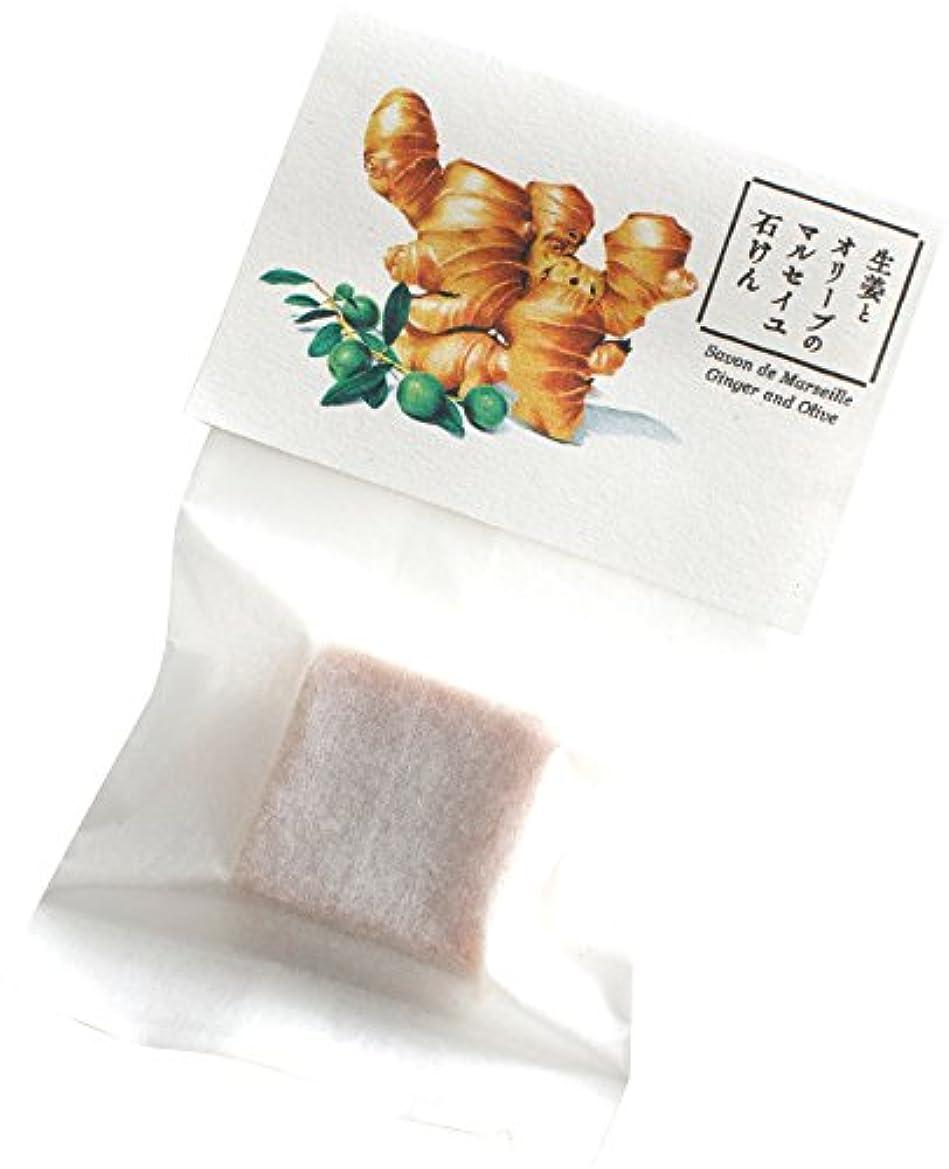 天の同じ好戦的なウェルコ 洗顔料 生姜とオリーブのマルセイユ石けん お試し用 10g