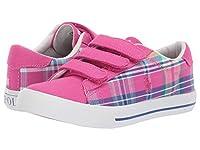 [ポロラルフローレン] キッズカジュアルシューズ・・スニーカー・靴 Easten II EZ (Little Kid) Sport Pink/Madras Plaid/Canvas/White Pony 13 Little Kid (19cm) M [並行輸入品]