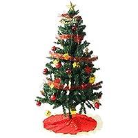 タンスのゲン クリスマスツリー セット 150cm オーナメント 10種 LED 8パターン イルミネーション付き レッド 16910003 01