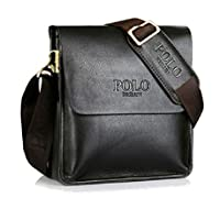 "POLO FEILUN Classic Vintage Genuine Leather Men's Briefcase Business Bag Composite Casual Shoulder Messenger Satchel Bags for Everday use 9""(L) x10.6(H) x 2.7""(W)"