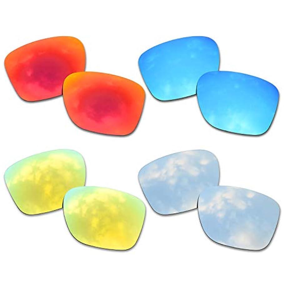 伝説ベアリングサークル蒸留するSOODASE 為に Oakley Crossrange サングラス レッド/ブルー/きんいろ/ぎんいろ 偏光交換使用するレンズ