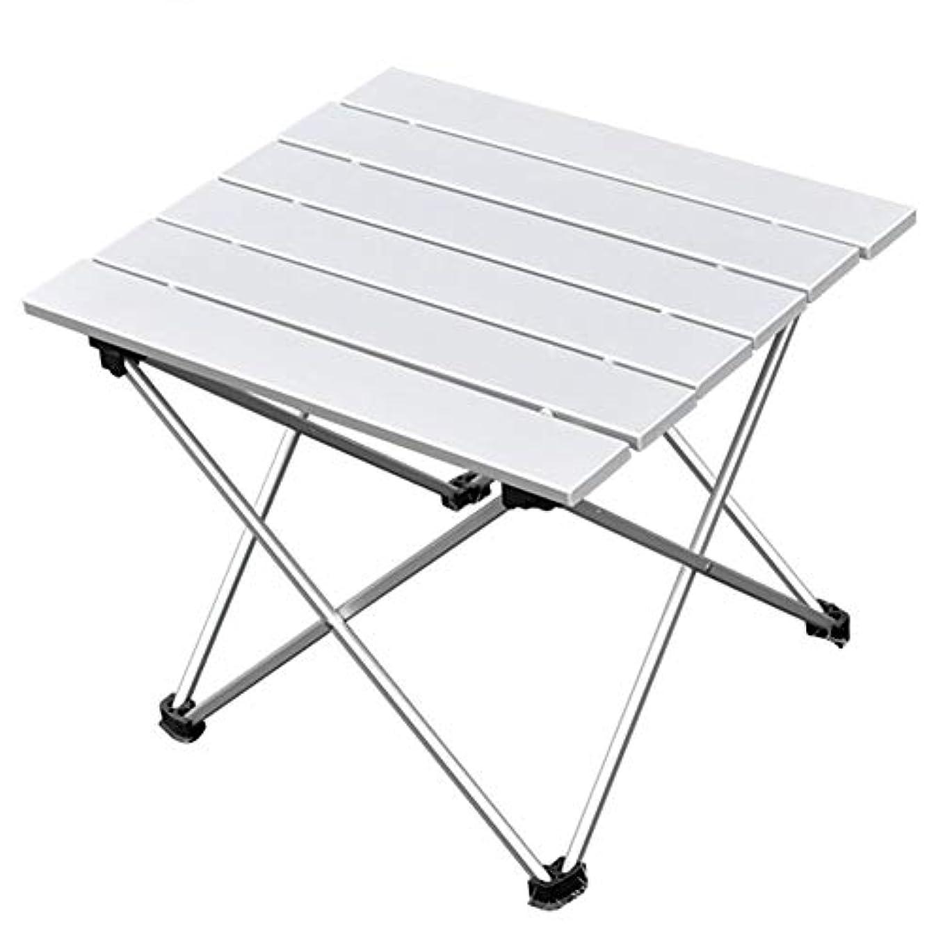 着実に危機贅沢MILICOCO 折りたたみテーブル アルミ製 アウトドアテーブル ロールテーブル コンパクト キャンプ ハイキング 耐荷重30kg 専用収納袋付き 便利 携帯安い シルバー