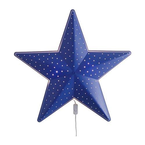 イケア (IKEA) SMILA 壁掛けライト ブルースター 星