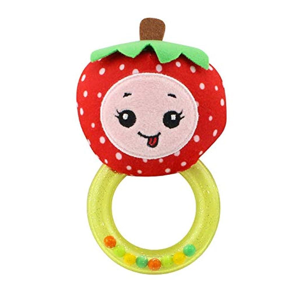 追放する剃るsJIPIIIk552 かわいい漫画フルーツコットンリングラトル 幼児 赤ちゃん音のおもちゃ ハンドグリップベル ストロベリー#