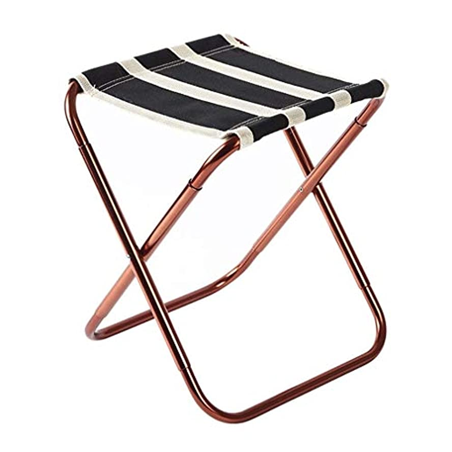 まさに作成する地下鉄屋外ポータブル折りたたみ椅子キャンプベンチアルミ合金多機能軽量カジュアル滑り止めピクニック旅行釣り登山バーベキューパークアドベンチャービーチ2色オプション (色 : ブラック)