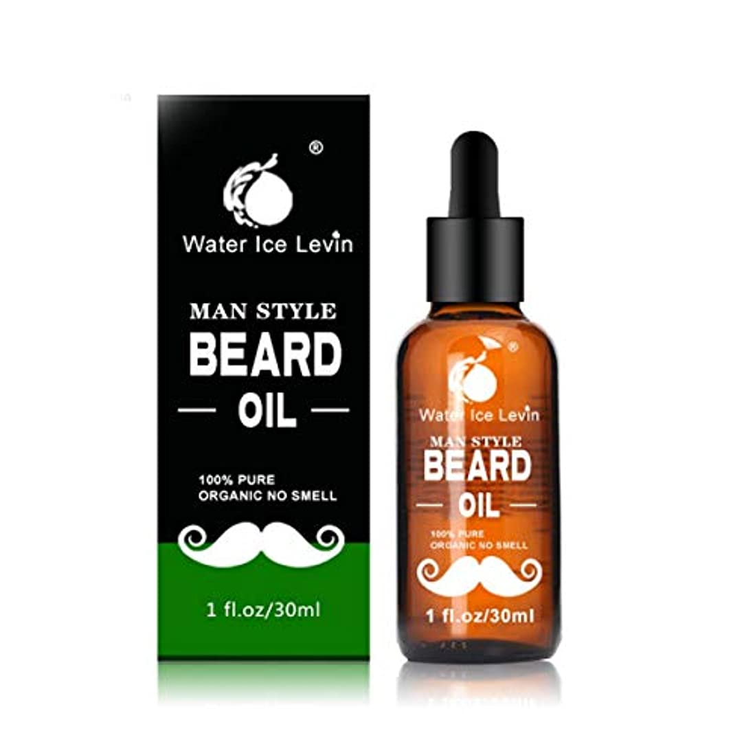 条件付き露中古Intercorey Men Moustache Cream Beard Oil Kit Beard Wax Balm Hair Loss Products Leave-In Conditioner for Groomed...
