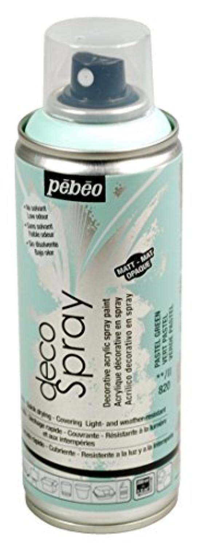 Pebeo 水性アクリルスプレーペイント デコスプレー 200ml マット色 NO.820パステルグリーン
