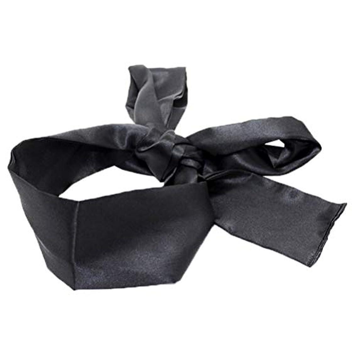 受け取るスリチンモイチチカカ湖HEALIFTY 睡眠マスクホームトラベルコスチューム小道具(ブラック)用サテン目隠しソフト快適なアイマスクバンドブラインダー