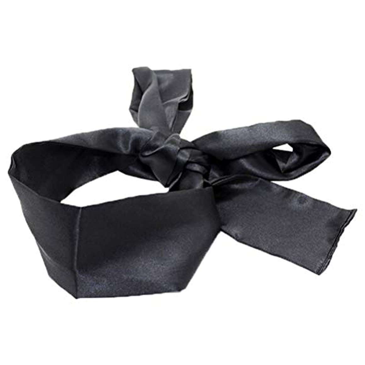 乱雑な信頼できる矛盾するHEALIFTY 睡眠マスクホームトラベルコスチューム小道具(ブラック)用サテン目隠しソフト快適なアイマスクバンドブラインダー