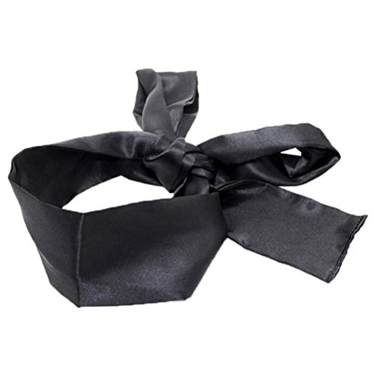 HEALIFTY 睡眠マスクホームトラベルコスチューム小道具(ブラック)用サテン目隠しソフト快適なアイマスクバンドブラインダー