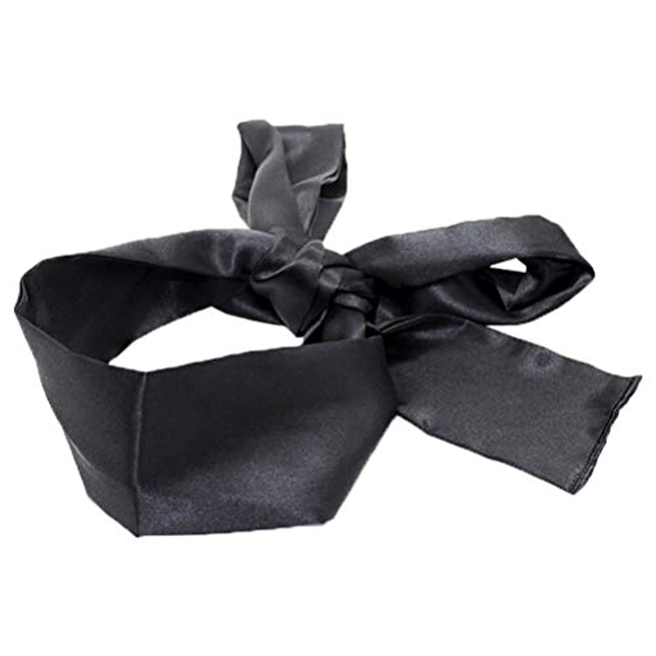 しばしばアジャ石HEALIFTY 睡眠マスクホームトラベルコスチューム小道具(ブラック)用サテン目隠しソフト快適なアイマスクバンドブラインダー