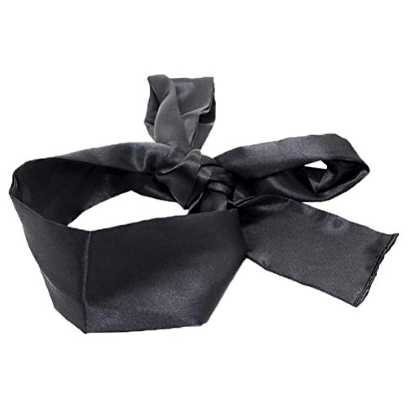 承認麺ダイエットHEALIFTY 睡眠マスクホームトラベルコスチューム小道具(ブラック)用サテン目隠しソフト快適なアイマスクバンドブラインダー