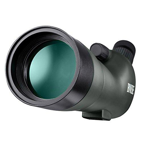 BNISE® スポッティングスコープ 単眼望遠鏡 - 20-60x60ズーム防水 - FMCコーティング光学レンズ - 附属三脚ステント - 携帯のカメラクリップ - カメラの画像フォルダ - 靑グリーン