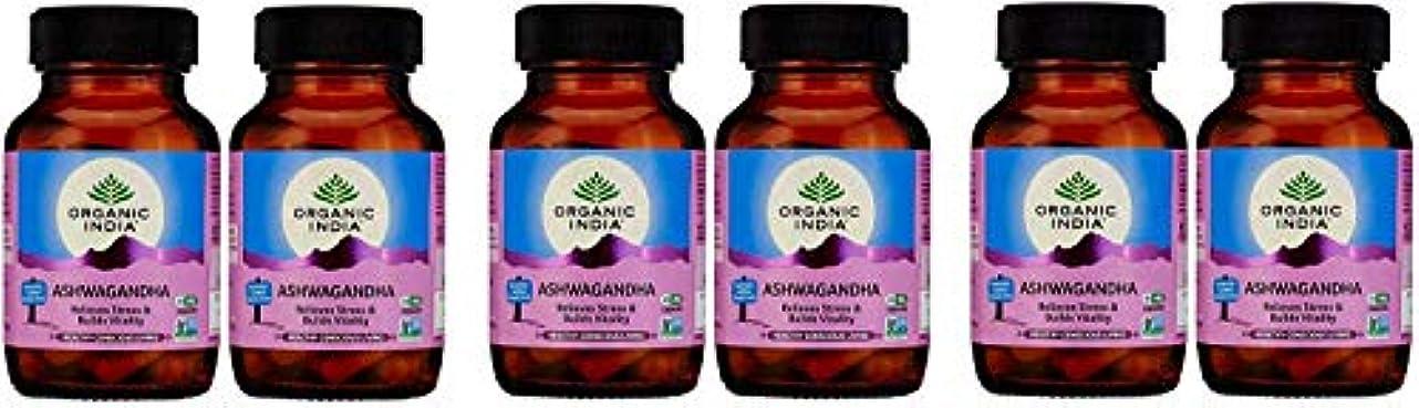 ネクタイ安心させる列挙する(6 PACK) - Organic India - Org Ashwagandha | 60's | 6 PACK BUNDLE