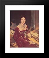 Portrait of Madame de Senonnes 20 x 24額入りアートプリントby Jean Auguste Dominique Ingres