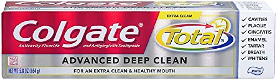 世界的に道広告主Colgate Total Advanced Clean Toothpaste 5.8 oz by Colgate [並行輸入品]