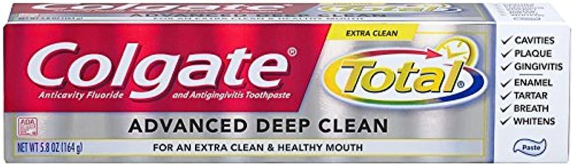 パラダイスアラバマオーバーヘッドColgate Total Advanced Clean Toothpaste 5.8 oz by Colgate [並行輸入品]