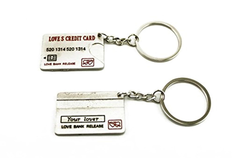navire 借金までも 一緒にね! クレジットカード型 LOVE CREDIT CARD ペア キーホルダー