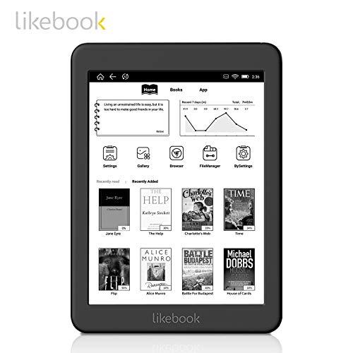 [セット品] Three One® 電子書籍リーダー Likebook Mars [Likebook Mars本体,専用ハードカバー,液晶保護フィルム,オンライン日本語マニュアル] GooglePlay対応 SDカード拡張可