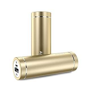 AUKEY モバイルバッテリー 5000mAh AiPower 小型 スマホ充電 USB充電 iPhone 7 / iPhone 7 Plus / iPhone6S / Samsung Galaxy / HUAWEI / Kindleなど各種他対応 PB-N37 (ゴールド) [改善版]