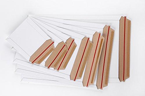 [해외]판지 봉투 원터치 부착 테이프 개봉 테이프가있는 흰색 100 장 (17x22CM (B5)) [병행 수입품]/Heavy paper envelope One touch attachment tape~ white with opening tape 100 sheets (17x22 CM (B5)) [Parallel import goods]