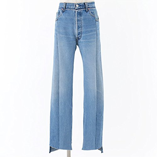 VETEMENTS ヴェトモン Levis Classic Reworked Denim Trousers カットオフ ハイウエスト デニム ジーンズ リーバイス PA3XSBL カラーBlue Blue/ウォッシュブルー [並行輸入品]