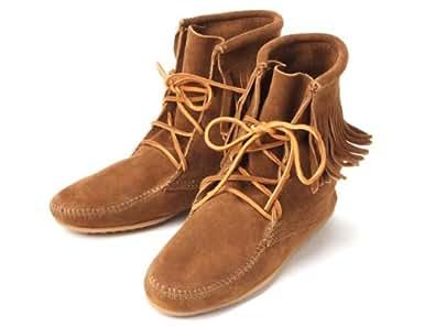 (ミネトンカ) MINNETONKA アンクル ハイ トランバー フリンジブーツ Tramper Ankle Hi Boot 429(BLACK) 7(24cm) [並行輸入品]