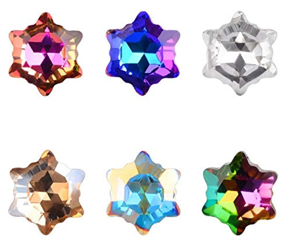 スリラー接続引き渡すTianmey 6Piecesネイル結晶ネイルズ装飾用宝石ストーンズアートラインストーンヒラタグラスチャームネイル