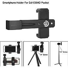 Auppova 1X Smartphone Fixing Clamp 1/4'' Holder Mount Bracket Compatible for DJI OSMO Pocket Gimbal