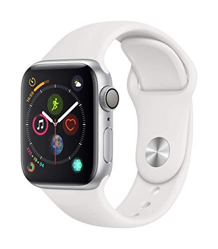 Apple?Watch Series?4(GPSモデル)- 40mmシルバーアルミニウムケースとホワイトスポーツバンド