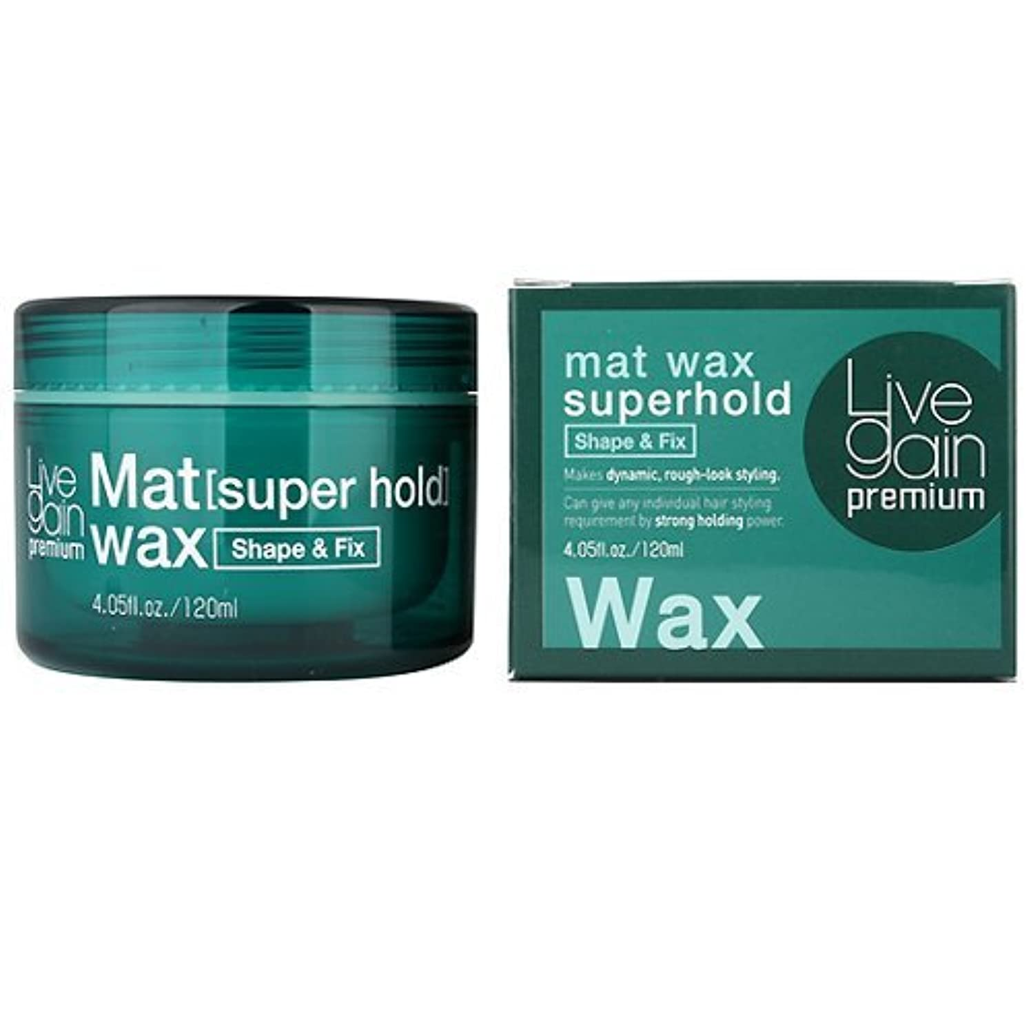 ページラッシュ大胆不敵Livegain プレミアム マット ワックス スーパーホールド 120ml マット ヘア ワックス ストロング ホールド (Premium Mat Wax Superhold 120ml Matte Hair wax...
