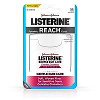 (アメリカ直送)リステリン 歯茎にやさしく、歯垢に厳しく ミントフロス デンタルフロス 45.7m Johnson&Johnson Listerine Gentle Gum Care 50yd