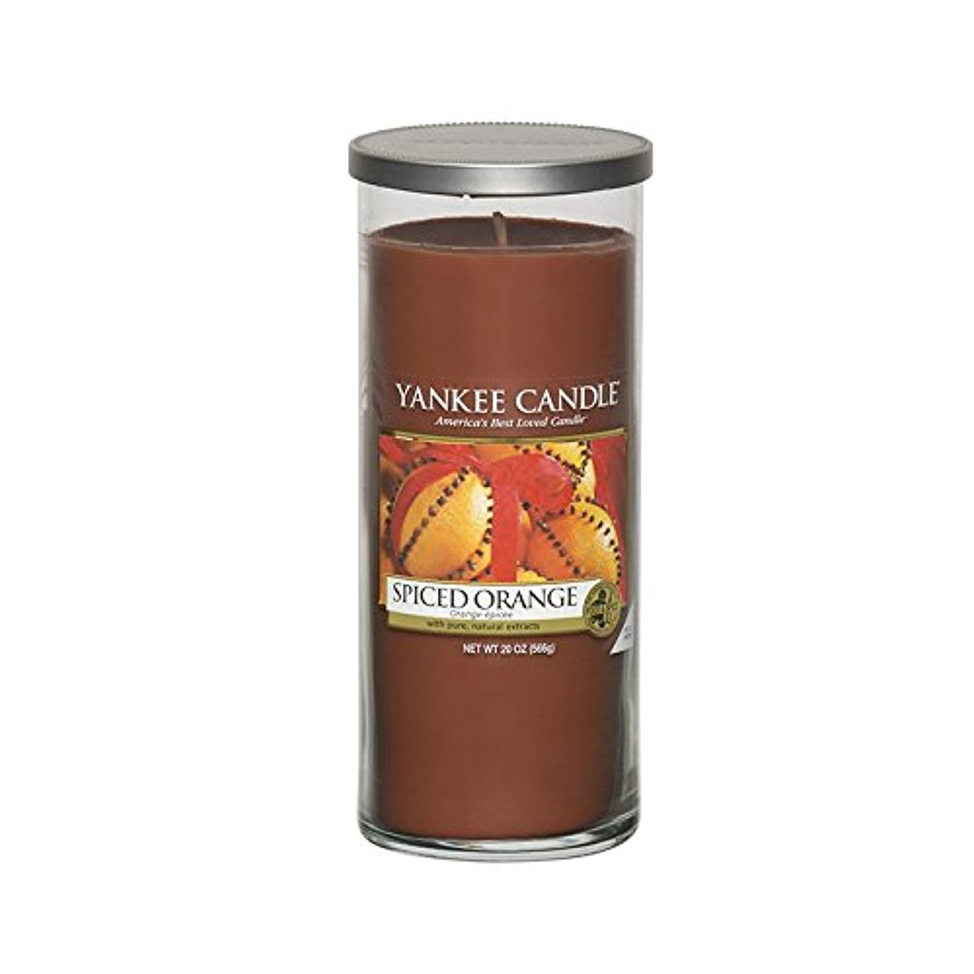 茎ステープルレンダリングYankee Candles Large Pillar Candle - Spiced Orange (Pack of 2) - ヤンキーキャンドル大きな柱キャンドル - スパイスオレンジ (x2) [並行輸入品]