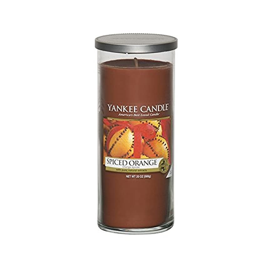 良心費用エコーYankee Candles Large Pillar Candle - Spiced Orange (Pack of 2) - ヤンキーキャンドル大きな柱キャンドル - スパイスオレンジ (x2) [並行輸入品]