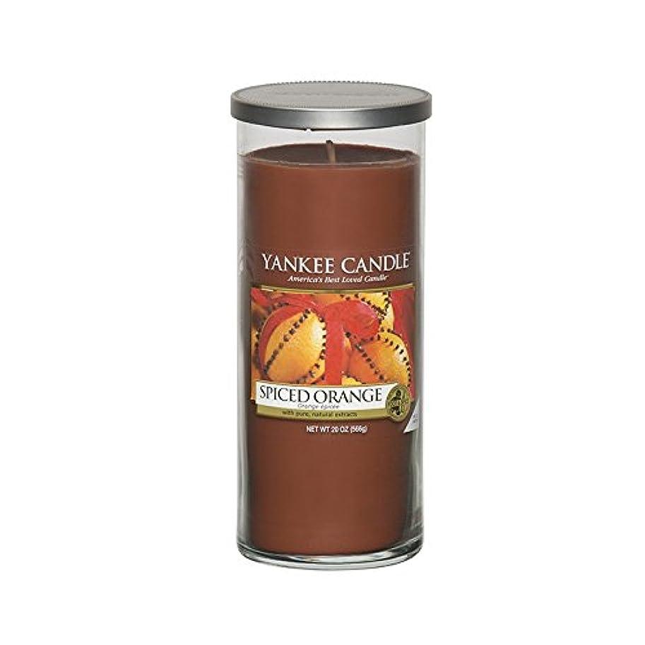 オーナメントあたり失うYankee Candles Large Pillar Candle - Spiced Orange (Pack of 2) - ヤンキーキャンドル大きな柱キャンドル - スパイスオレンジ (x2) [並行輸入品]