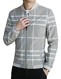 Fly Year-JP メンズ2ピース衣装トラッカーフルジッパーフーディージャケットとズボン