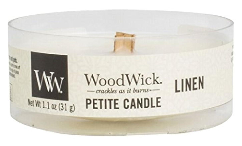 落胆する災難麦芽Wood Wick ウッドウィック  プチキャンドル リネン
