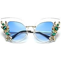 KINGROCK Women Cat Eye Square Sunglasses Rhinestone Luxury Frame Eyeglass Fashion Shades