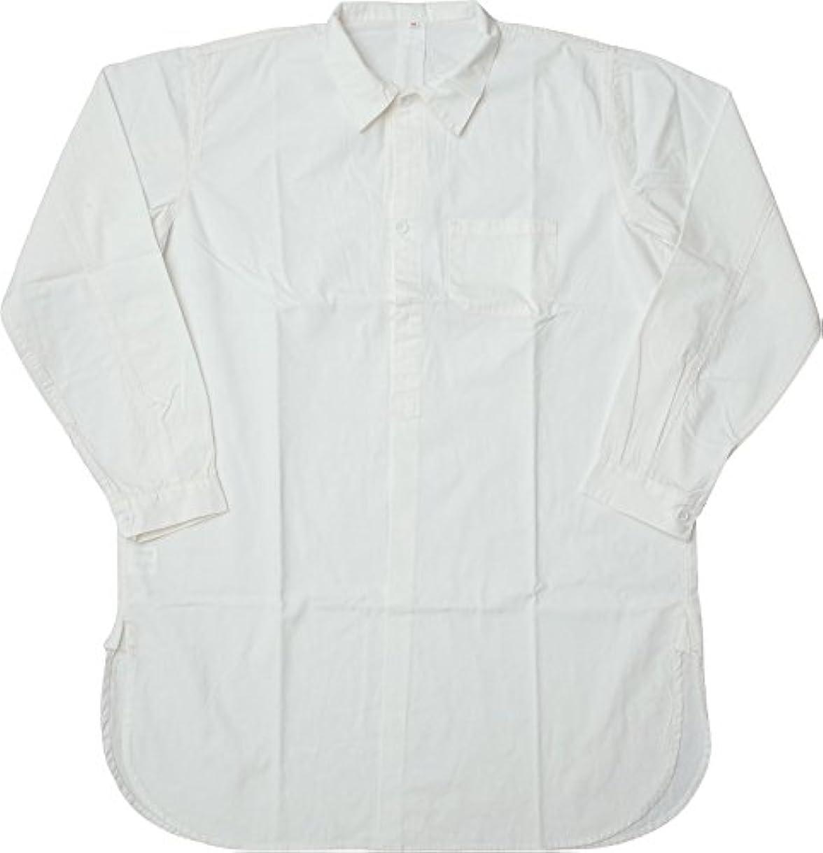 盗難添加剤マイルスウェーデン軍タイプ グランパシャツ 2ボタン 新品 【ホワイト】 (36, ホワイト)