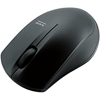 エレコム ワイヤレスマウス Bluetooth IRセンサー 3ボタン 省電力 3ボタン ブラック M-BT12BRBK