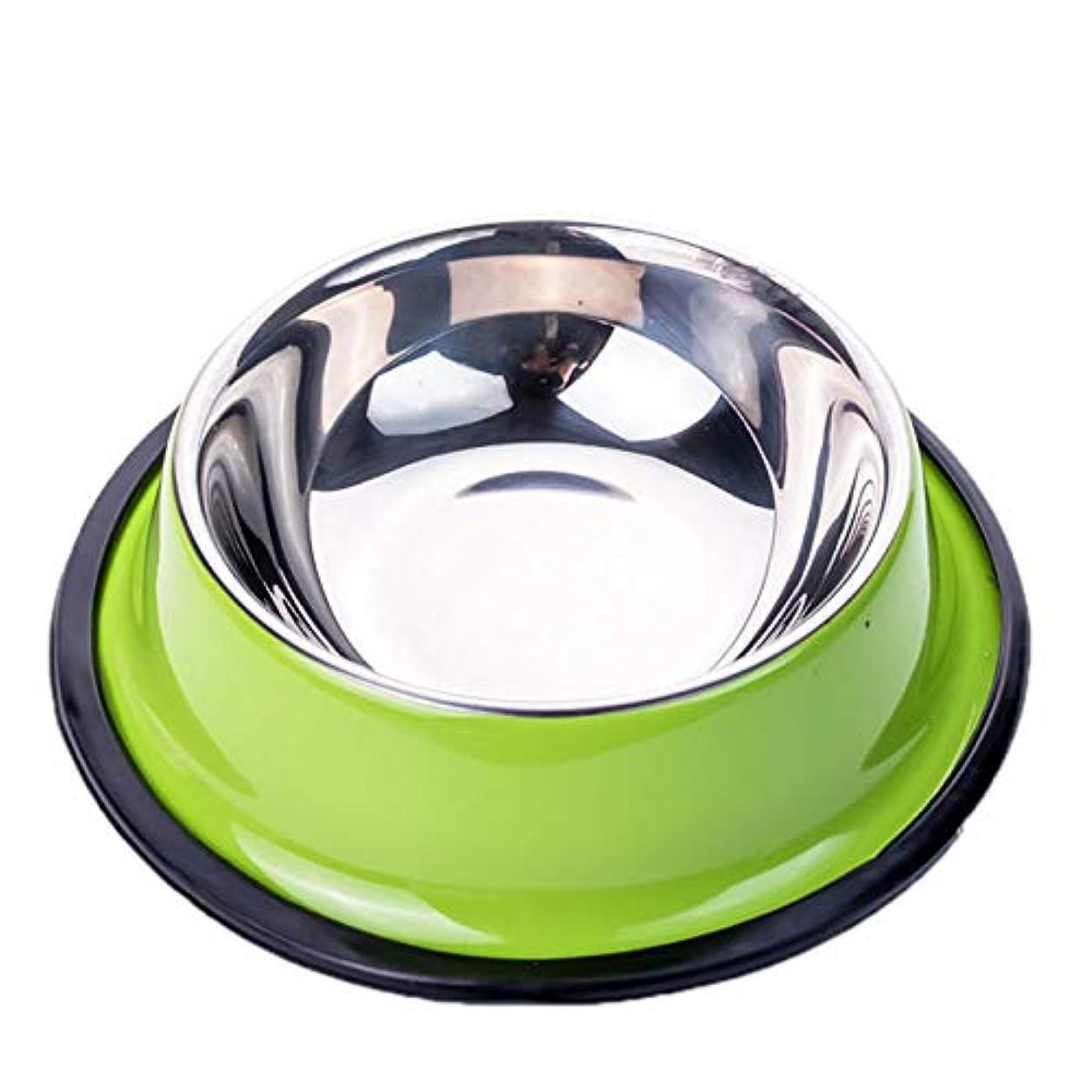 Xian 犬用ボウル、ペット用ステンレススチール製フードボウル、猫と犬用給餌用ボウル - 飲料用ボウルSコードボウル底部直径 - 6.4インチ - 上部直径 - 4.4インチボウルの高さ - 1.8インチ - ピンク Easy to Clean Non-Skid Bowls for Dogs (Color : Green, Size : 12*8.8*2.8inch)