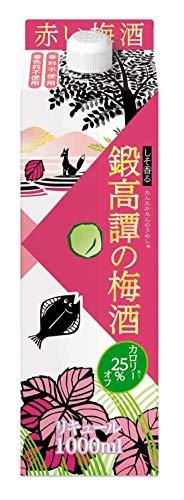合同酒精 鍛高譚の梅酒カロリー25% オフ パック [ 1000ml ]